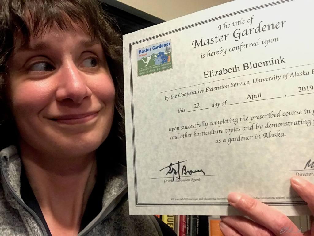 Master Gardener Certificate